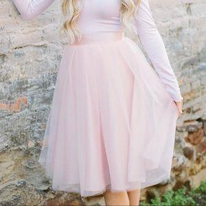 Bliss Tulle - Tulle Skirt in Blush